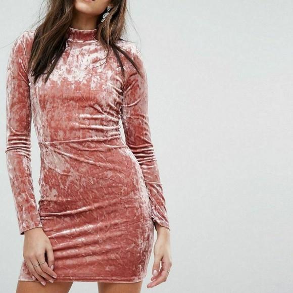 PrettyLittleThing Dresses & Skirts - PrettyLIttleThing NWT Pink Pretty Velvet Dress  6